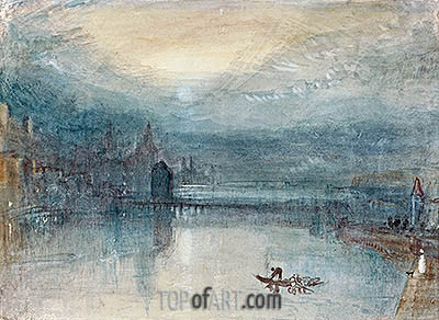 Lucerne by Moonlight, c.1842/43 | J. M. W. Turner | Painting Reproduction