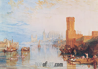 Cologne from the River, 1820 | J. M. W. Turner | Painting Reproduction