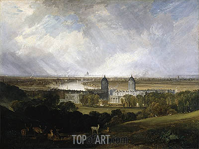 London from Greenwich Park, 1809 | J. M. W. Turner | Painting Reproduction