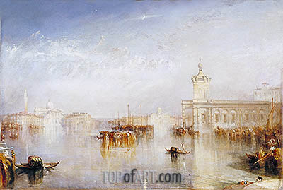The Dogano, San Giorgio, Citella, from the Steps of the Europa, 1842 | J. M. W. Turner | Painting Reproduction
