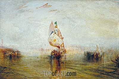 The Sun of Venice Going to Sea, 1843 | J. M. W. Turner | Gemälde Reproduktion
