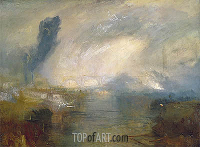 The Thames above Waterloo Bridge, c.1830/35 | J. M. W. Turner | Painting Reproduction