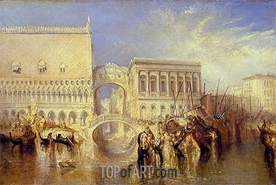 Venice, the Bridge of Sighs, 1840 | J. M. W. Turner | Gemälde Reproduktion