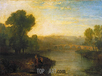 View of Richmond Hill and Bridge, 1808 | J. M. W. Turner | Painting Reproduction