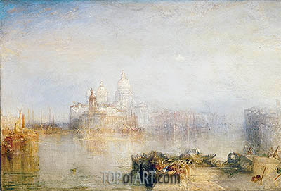 The Dogana and Santa Maria della Salute, Venice, 1843 | J. M. W. Turner | Painting Reproduction