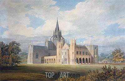 Perspective View of Fonthill Abbey from the South-West, undated | J. M. W. Turner | Painting Reproduction