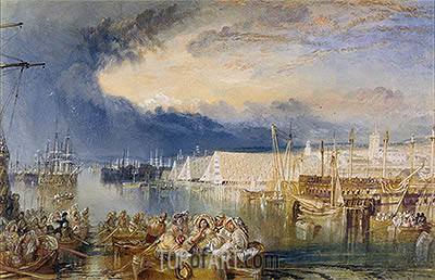 Devonport and Dockyard, Devonshire, c.1825/29 | J. M. W. Turner | Painting Reproduction