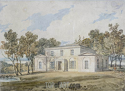 Mansion with Wooded Grounds, undated | J. M. W. Turner | Painting Reproduction