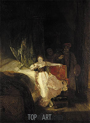 Rembrandt's Daughter Reading a Letter, 1827 | J. M. W. Turner | Painting Reproduction