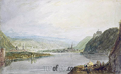 Remagen, Erpel and Linz, 1817 | J. M. W. Turner | Painting Reproduction