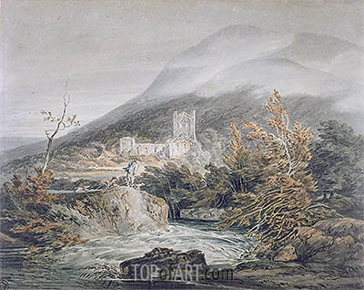 Llanthony Abbey, Monmouthshire, c.1792 | J. M. W. Turner | Painting Reproduction