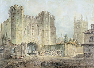 King Edgar's Gate, Worcester, c.1794 | J. M. W. Turner | Painting Reproduction
