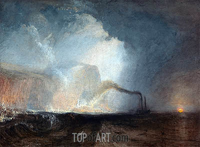 Staffa, Fingal's Cave, undated | J. M. W. Turner | Painting Reproduction