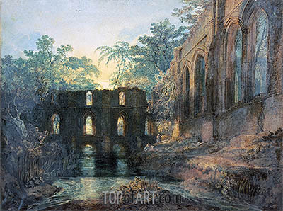 Fountains Abbey, undated | J. M. W. Turner | Painting Reproduction