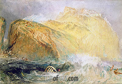 Tintagel Castle, Cornwall, undated | J. M. W. Turner | Painting Reproduction