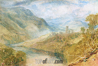 Merwick Abbey, undated | J. M. W. Turner | Painting Reproduction