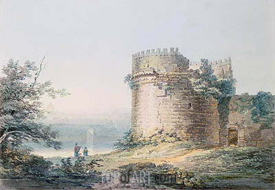Tomb of Cecilia Metella, Rome, undated   J. M. W. Turner   Painting Reproduction