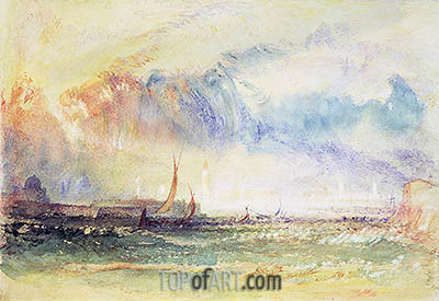 Storm at Sunset, Venice, c.1840   J. M. W. Turner   Painting Reproduction