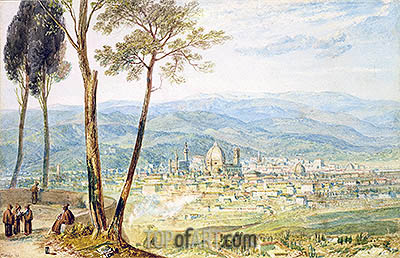 Florence from the Road to Fiesole, undated | J. M. W. Turner | Painting Reproduction