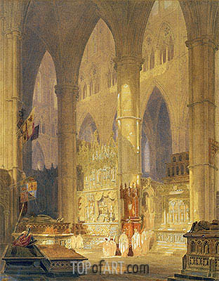 Caen Cathedral, undated | J. M. W. Turner | Painting Reproduction