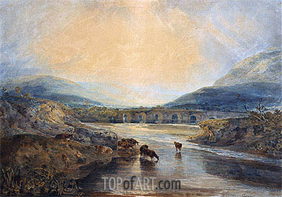 Abergavenny Bridge, Monmouthshire: Clearing Up After a Showery Day, undated | J. M. W. Turner | Painting Reproduction