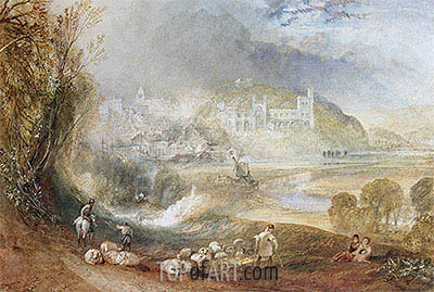Arundel Castle and Town, c.1824 | J. M. W. Turner | Painting Reproduction