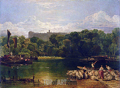 Windsor Castle from the Thames, c.1805 | J. M. W. Turner | Painting Reproduction