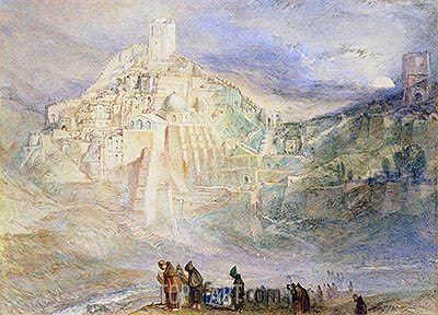Wilderness at Engedi and Convent of Santa Saba, undated | J. M. W. Turner | Gemälde Reproduktion