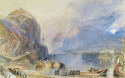 The Drachenfels, Germany, c.1823/24 | J. M. W. Turner | Painting Reproduction