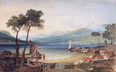 Lake Geneva and Mont Blanc, c.1802/05 | J. M. W. Turner | Painting Reproduction