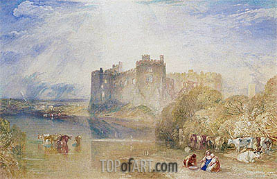 Carew Castle, Pembroke, c.1832 | J. M. W. Turner | Gemälde Reproduktion