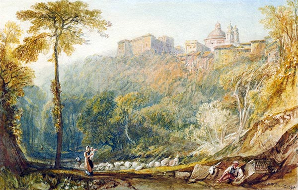 View of La Riccia (Ariccia), 1817 | J. M. W. Turner | Painting Reproduction
