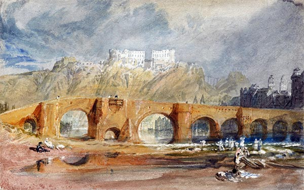 The Moselle Bridge at Coblenz, 1817 | J. M. W. Turner | Painting Reproduction