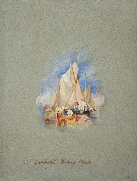Great Yarmouth Fishing Boats, c.1827 | J. M. W. Turner | Painting Reproduction