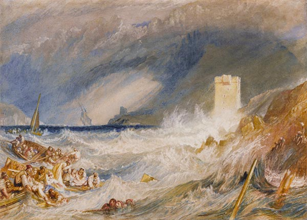 Entrance to Fowey Harbour, Cornwall, c.1827 | J. M. W. Turner | Painting Reproduction