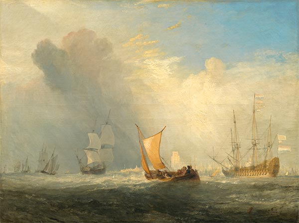 Rotterdam Ferry-Boat, 1833 | J. M. W. Turner | Painting Reproduction
