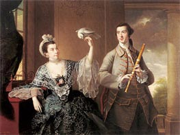 Portrait of Mr and Mrs William Chase | Wright of Derby | Gemälde Reproduktion
