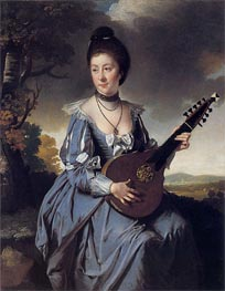 Portrait of Mrs Robert Gwillym, 1766 von Wright of Derby | Gemälde-Reproduktion