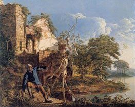 The Old Man and Death, 1774 by Wright of Derby | Painting Reproduction