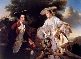 Portrait of Perez Burdett and his First Wife Hannah, 1765 von Wright of Derby | Gemälde-Reproduktion