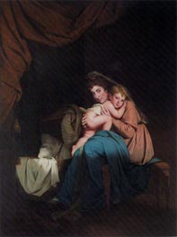 Lady Wilmot and her Child, 1788 von Wright of Derby | Gemälde-Reproduktion