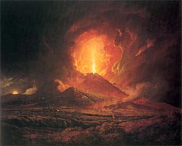 An Eruption of Vesuvius seen from Portici, c.1774/76 von Wright of Derby | Gemälde-Reproduktion