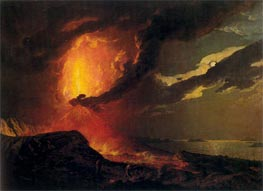 Vesuvius in Eruption with a View over the Islands in the Bay of Naples, c.1776/80 von Wright of Derby | Gemälde-Reproduktion