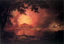 Vesuvius in Eruption, c.1777/80 von Wright of Derby | Gemälde-Reproduktion