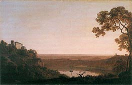 Lake Nemi, c.1790/92 by Wright of Derby | Painting Reproduction