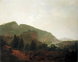 Italian Landscape, 1790 by Wright of Derby | Painting Reproduction