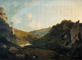 View in Dovedale, 1786 von Wright of Derby | Gemälde-Reproduktion