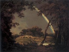 Landscape with a Rainbow | Wright of Derby | Painting Reproduction