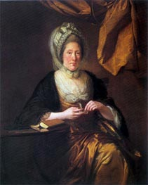 Portrait of Mrs Francis Hurt | Wright of Derby | Gemälde Reproduktion