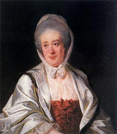 Portrait of Mrs Samuel Crompton, c.1780 by Wright of Derby | Painting Reproduction